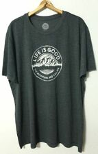 Life Is Good S/S Cool Tee Shirt Men's XXL The Mountains Are Calling Night Black
