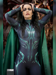 Hela Cosplay Costume Thor Ragnarok Hela women Halloween Costumes with cape