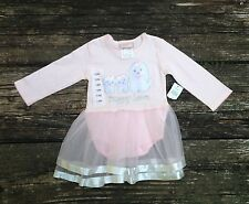 """NEW Love Being Me Girls """"Puppy Love"""" Pink Tulle Dress 12 Months"""
