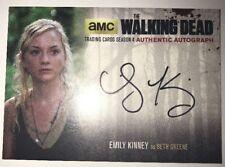 2016 The Walking Dead Auto EMILY KINNEY/BETH GREENE AUTOGRAPH Season 4 Part 1