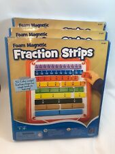 Foam Magnetic Fraction Strips, 51 pcs Brand New(set Of 3)