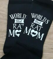 WORLDS BEST RAT MOM SOCKS LADIES WOMENS CHRISTMAS BIRTHDAY GIFT 4