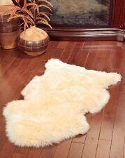 Genuine Real Australian Sheepskin Rug One Pelt Golden- Champagne Fur 2 x 3