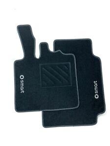 Tappetini Smart ForTwo W450 dal 1998 al 2007 2 ricami+clip+battitacco