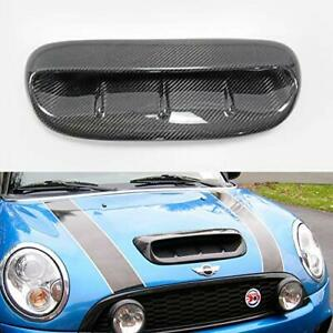 Carbon Fiber Direct Replacement Hood Scoop Air Vent Intake For Mini Cooper S R53