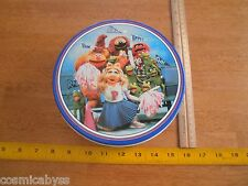 "The Muppets 1989 7"" Tin Round box Cheerleaders Miss Piggy fans"