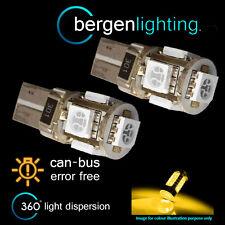 2x W5w T10 501 Canbus Error Free Xenon Amber 5 LED lado Repetidor bombillas sr101301