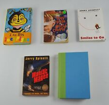 Lot Of 5 Vintage Children's Books Joey Pigza Smiles To Go Maniac Magee
