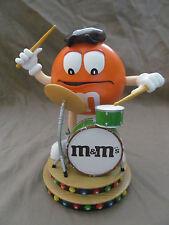 """M&M's """"Outrageous Orange"""" Figurine by Danbury Mint - Rare Figure Drums Player"""