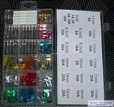 130x Träge Flink Glas  Fein Sicherungen 11mm19mm 32V Auto Motorad Sortiment KFZ