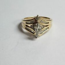 14k Yellow Gold Diamond Ring Size 7.75 Jewelry #DF-MAR288