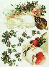 Carta DI RISO PER DECOUPAGE SCRAPBOOKING sheetscraft Buon Natale 2