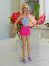 Beautiful Blonde Babe Blonde Barbie With Nipple Implants, Sexy Flower Outfit