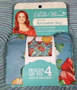 THE PIONEER WOMAN VINTAGE FLORAL REUSABLE BAG NEW Easy Fold Up Design