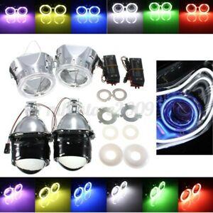 """2x 2.5"""" Bi-Xenon HID Projector Retrofit  Lens Hi/Lo H1 Xenon Bulb"""