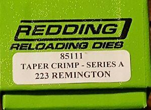 85111 REDDING 223 REMINGTON TAPER CRIMP DIE - BRAND NEW - FREE SHIP