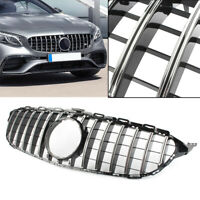 AMG GT R Style Front Upper Grill For Mercedes Benz C Class W205 2014-2018 New