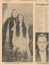 Bela Lugosi Boris Karloff Mask of Fu Manchu Dr Jekyll and Mr Hyde May 7 1972 C1