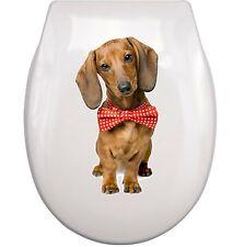 DACKEL dachshund WC Aufkleber toilet sticker M4 wasserdicht waterproof 02