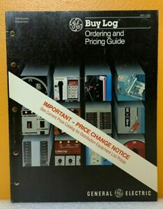 General Electric Buy Log Ordering and Pricing Guide Catalog GEP-1100E.