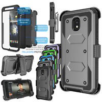 Armor Belt Clip Kickstand Phone Case + Full Body Screen Protector Hard Cover