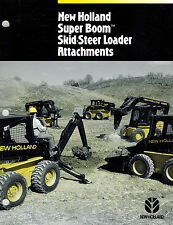 NEW HOLLAND  SUPER BOOM SKID STEER ATTACHMENTS SALES BROCHURE 1995