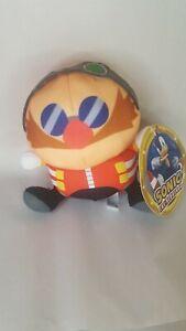 "Sonic the Hedgehog 6"" Dr. Eggman Plush Doll Stuffed Animal Authentic Sega NWT"