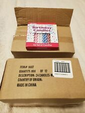 Birthday Candles (24 Spiral Candles) Box Of 12 BRAND NEW