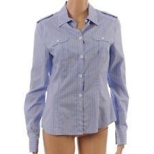 Women's Classic Collar Striped Button Cuff Sleeve Cotton Tops & Shirts