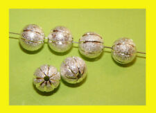 Silver Plated 8 - 8.9 mm Size Jewellery Beads