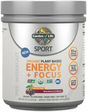Sport Organic Sugar Free Plant-Based Energy Plus Focus, 40 servings Blackberry C