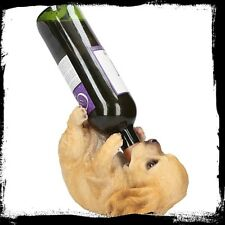 Golden Cocker Spaniel Guzzlers Wine Bottle Holder Stand Dog Lovers Quirky Gift
