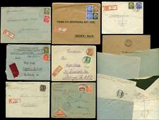 GERMANY 1913-38 REGISTERED + EXPRESS...7 ITEMS
