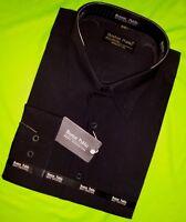 Boston Public Mens Plain Cotton Short Sleeve Shirt Herren Buisnes Hemd Langarm