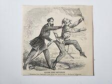 General William Sherman Chattahoochee Joseph E. Johnston 1864 Civil War Cartoon
