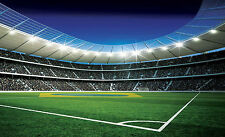 Wallpaper mural for boy's bedroom Football Stadium photo wall for children