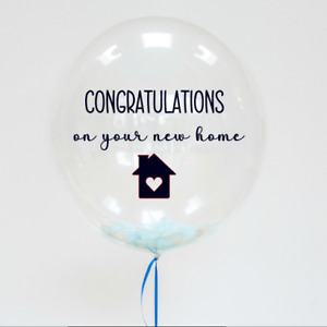 Personalised New Home Balloon Sticker - Congratulations new home