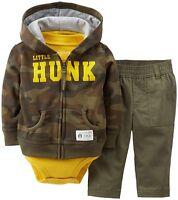 Carters Infant Boys  3pc Set Pants Outfit Set Camo Size- 12M NWT