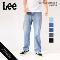 VINTAGE LEE DISTRESSED STRAIGHT LEG JEANS DENIM 30 31 32 34 36 38