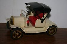VERY NICE TIN FRICTION POWERED WHITE OLDTIMER ANTIQUE ROADSTER CAR VERY COOL