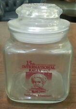 ANCHOR HOCKING Advertising Jar for 15th Coachmen Caravan Rally in SEDALIA MO