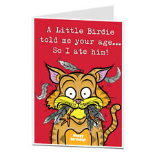 Funny Birthday Card Humorous Perfect For Mum Dad 40th 50th 60th 70th Cat