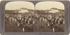 Maroc Tanger Procession STEREO Stereoview Vintage argentique