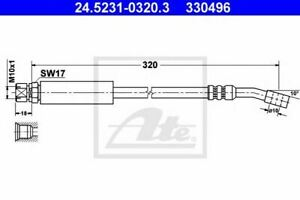 Flexible de frein OPEL COMBO (71_) CORSA B (73_, 78_, 79_) CORSA B Camionnette (