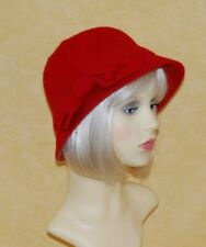 Ladies Wool Blend Cloche Hat with Bow Detail Available 3 Colours. BNWT,