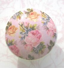 Pink Roses Ceramic Knob floral yellow pull flowers drawer Lavender Desk Kitchen
