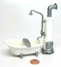 Playmobil Victorian Dollhouse Bathroom Clawfoot Tub w/ Water Heater Faucet 5318