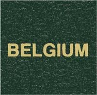 Scott Specialty LABEL For Series Green Binder BELGIUM Gold Lettering Stamp Album