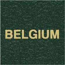 Scott Specialty LABEL For Series Green Binder BELGIUM Gold Lettering Stamp Album