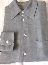 Luxurious GIORGIO ARMANI black label Gray textured twill  15 1/2 -39